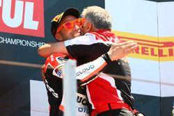 Podium: ganador, Marco Melandri, Ducati Team