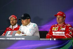 1. Valtteri Bottas, Mercedes AMG F1; 2. Sebastian Vettel, Ferrari; 3. Kimi Räikkönen, Ferrari