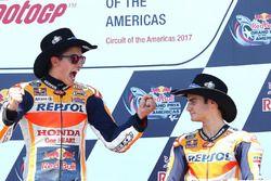 1. Marc Marquez, Repsol Honda Team; 3. Dani Pedrosa, Repsol Honda Team