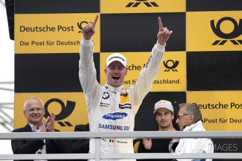 Podium: Race winner Maxime Martin, BMW Team RBM, BMW M4 DTM