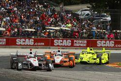 Helio Castroneves, Team Penske Chevrolet, Josef Newgarden, Team Penske Chevrolet, Simon Pagenaud, Team Penske Chevrolet
