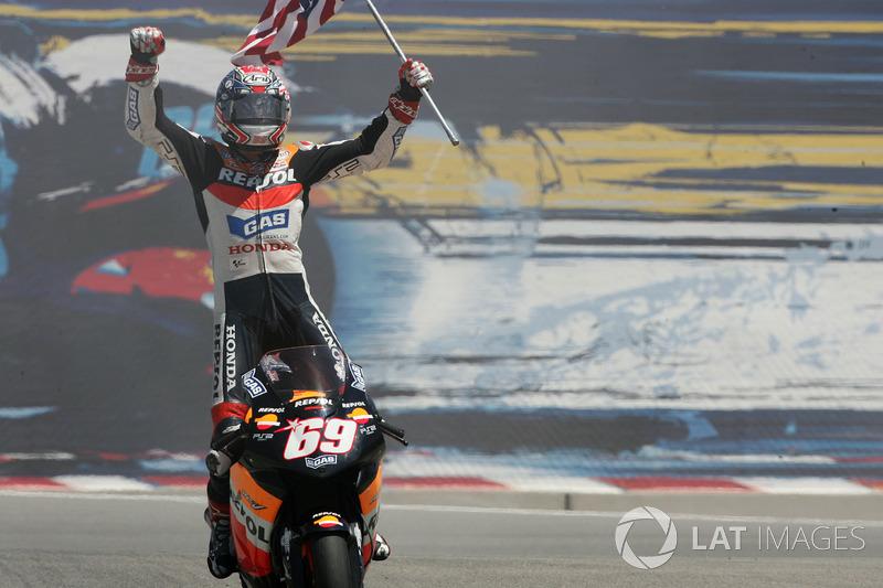 Nicky Hayden, Repsol Honda Team, festejo