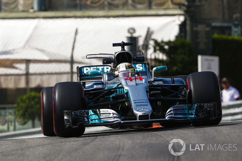 Lewis hamilton mercedes amg f1 w08 at monaco gp for Garage mercedes monaco