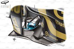 Lotus Renault R31 forward exhausts