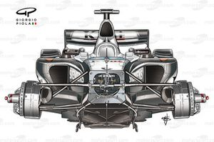 McLaren MP4-19 2004 chassis detail front view