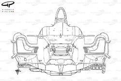McLaren MP4/26 chassis, line drawing