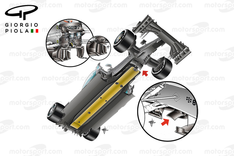 Mercedes W05 bottom view