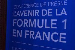 GP di Francia, cartelloni della conferenza stampa