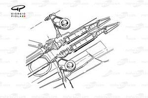 Ferrari F1-90 (641) 1990 front suspension detail