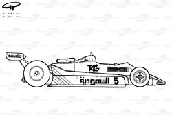 Williams FW07C 1982 side view