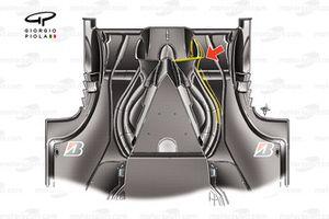 Vista desde abajo del difusor del Ferrari F60 (660) 2009