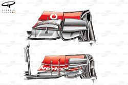 McLaren MP4-27 front wing, new specification bottom