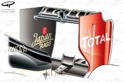 Lotus E20 low downforce rear wing