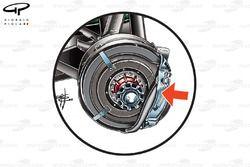 Force India VJM03 front brake