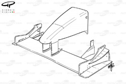 Sauber C19 front wing (no upper flaps during build)