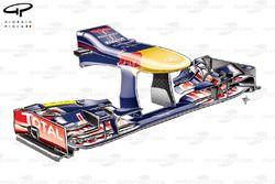 Nez et aileron avant de la Red Bull RB9, Italie