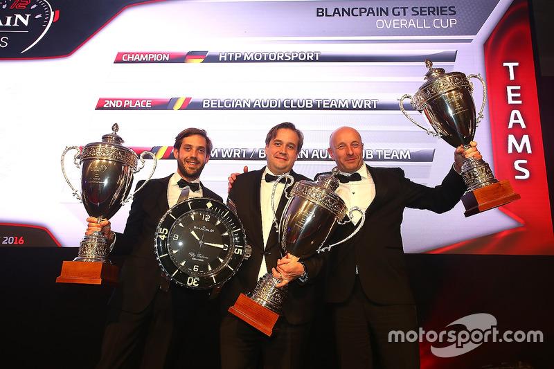 Equipos 2016  HTP Motorsport, campeón, Belgian Audi Club Team WRT,segundo lugar, Team WRT/ Belgian Audi Club Team WRT, tercer lugar