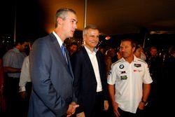 Ed Bennett, Chief Executive Officer IMSA; Jens Marquardt, BMW Motorsport Director; Bill Auberlen