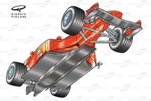 Ferrari F2001 (652), вид снизу