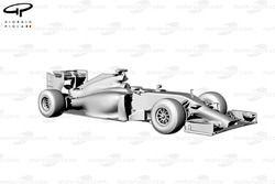 Ferrari F14T 3/4 view
