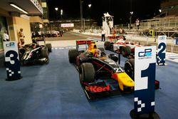 Pierre Gasly, PREMA Racing celebra como regresa al Parc Ferme después de ganar la carrera