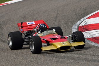 Damon Hill drives the Lotus 49 driven to the 1968 title by his father Graham Hill