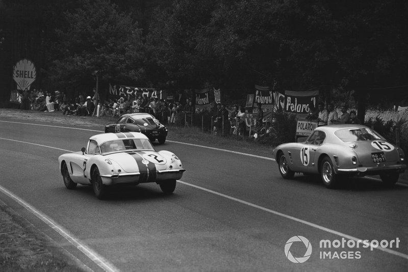 Dick Thompson, Fred Windridge, Chevrolet Corvette C1, Graham Whitehead, Henry Taylor, Ferrari 250 GT SWB