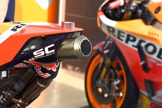 Repsol Honda Team exhaust detail