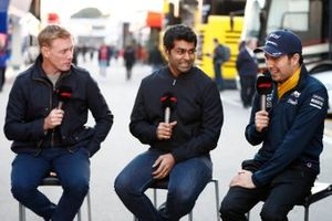 Simon Lazenby, Sky TV, Karun Chandhok, Sky TV en Sergio Perez, SportPesa Racing Point F1 Team
