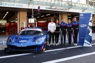 Manuela Gostner, Rahel Frey and Michelle Gatting. Kessel Racing. Ferrari 488 GTE