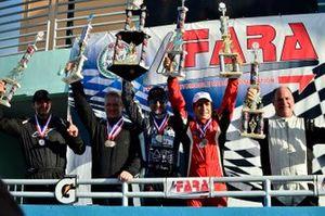 Peter London, Andor Kovacs, David Tuaty, Pedro Redondo Sr., and Adam Yunis of TLM Racing