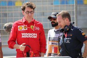 Mattia Binotto, Ferrari, Christian Horner, Red Bull Racing