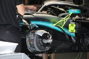 Mercedes AMG F1 front brakes detail