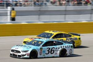 Matt Tifft, Front Row Motorsports, Ford Mustang Surface Sunscreen / Tunity Joey Logano, Team Penske, Ford Mustang Pennzoil