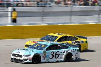 Matt Tifft, Front Row Motorsports, Ford Mustang Surface Sunscreen / Tunity Joey Logano, Team Penske, Ford Mustang Pennzoil
