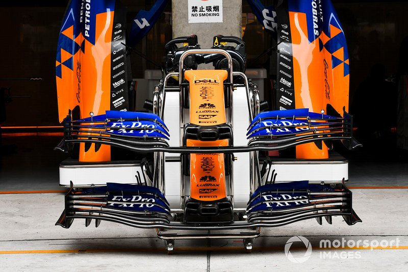 McLaren MCL34 front wing detail