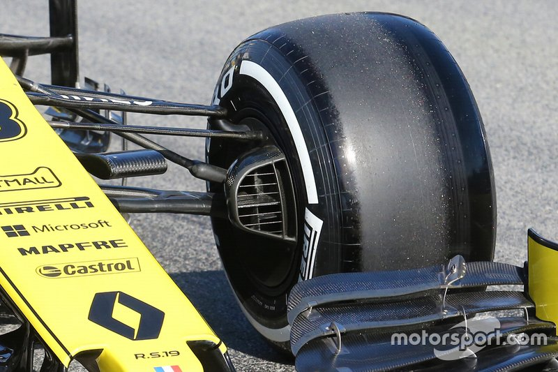 Detalle de las suspension de Renault F1 Team R.S. 19