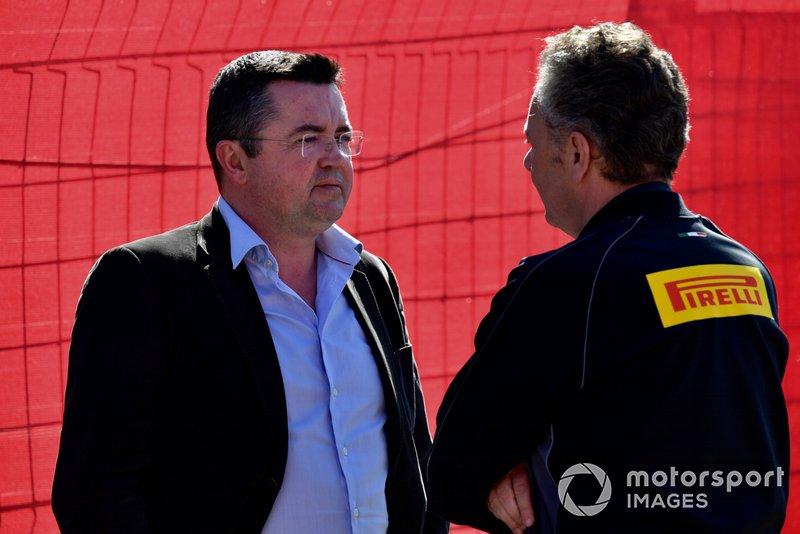 Éric Boullier e Mario Isola, da Pirelli
