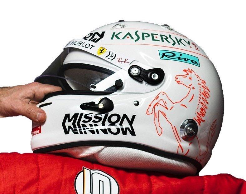 Новый шлем Себастьяна Феттеля