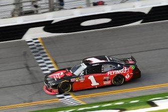 Michael Annett, JR Motorsports, Chevrolet Camaro Chevrolet Pilot Flying J / American Heart Association takes the checkered flag