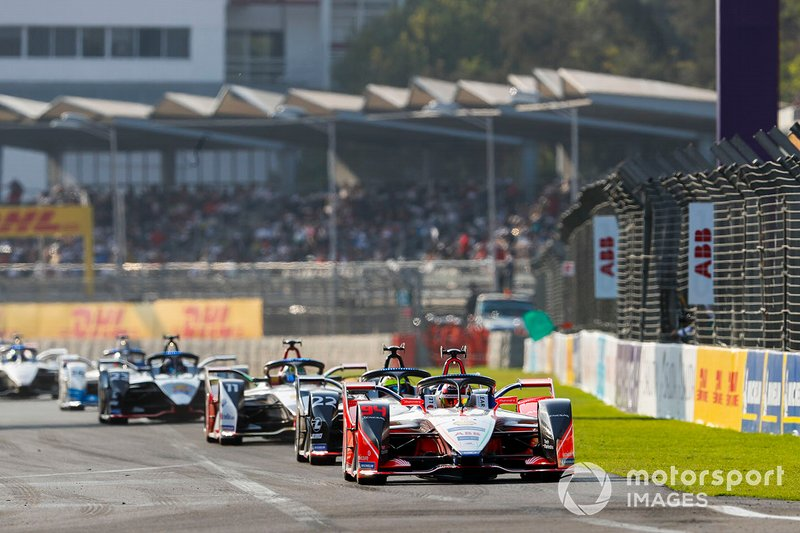 Pascal Wehrlein, Mahindra Racing, M5 Electro Oliver Rowland, Nissan e.Dams, Nissan IMO1, Lucas Di Grassi, Audi Sport ABT Schaeffler, Audi e-tron FE05