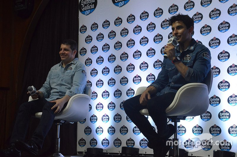 Alex Barros y Marc Márquez