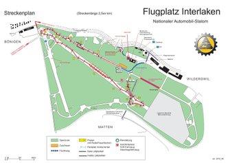 Interlaken airport, 2019 racetrack