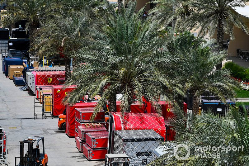 Freight in the paddock