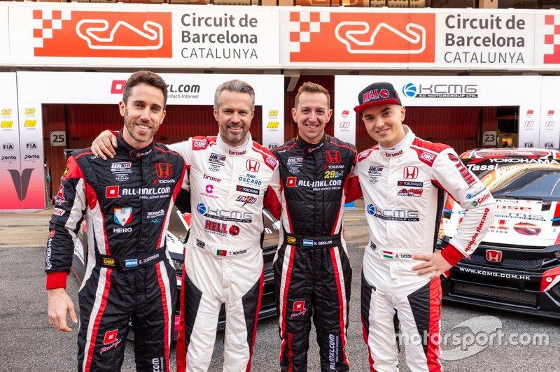 Esteban Guerrieri, Munnich Motorsport, Honda Civic Type R TCR; Néstor Girolami, Munnich Motorsport, Honda Civic Type R TCR