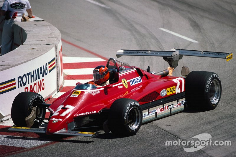 Gilles Villeneuve, Ferrari 126C2, with double rear wing