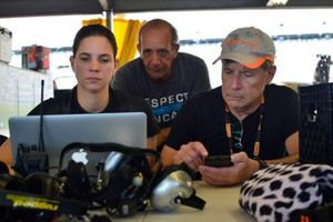 Alline Cipriani goes over data after testing