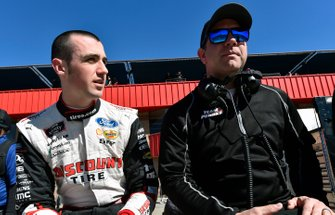 Austin Cindric, Team Penske, Ford Mustang America's Tire / Discount Tire and Brian Wilson