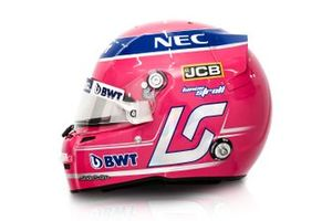 El casco de Lance Stroll , Racing Point