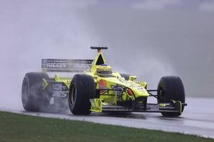 Jarno Trulli, Jordan Mugen Honda EJ10 under the rain